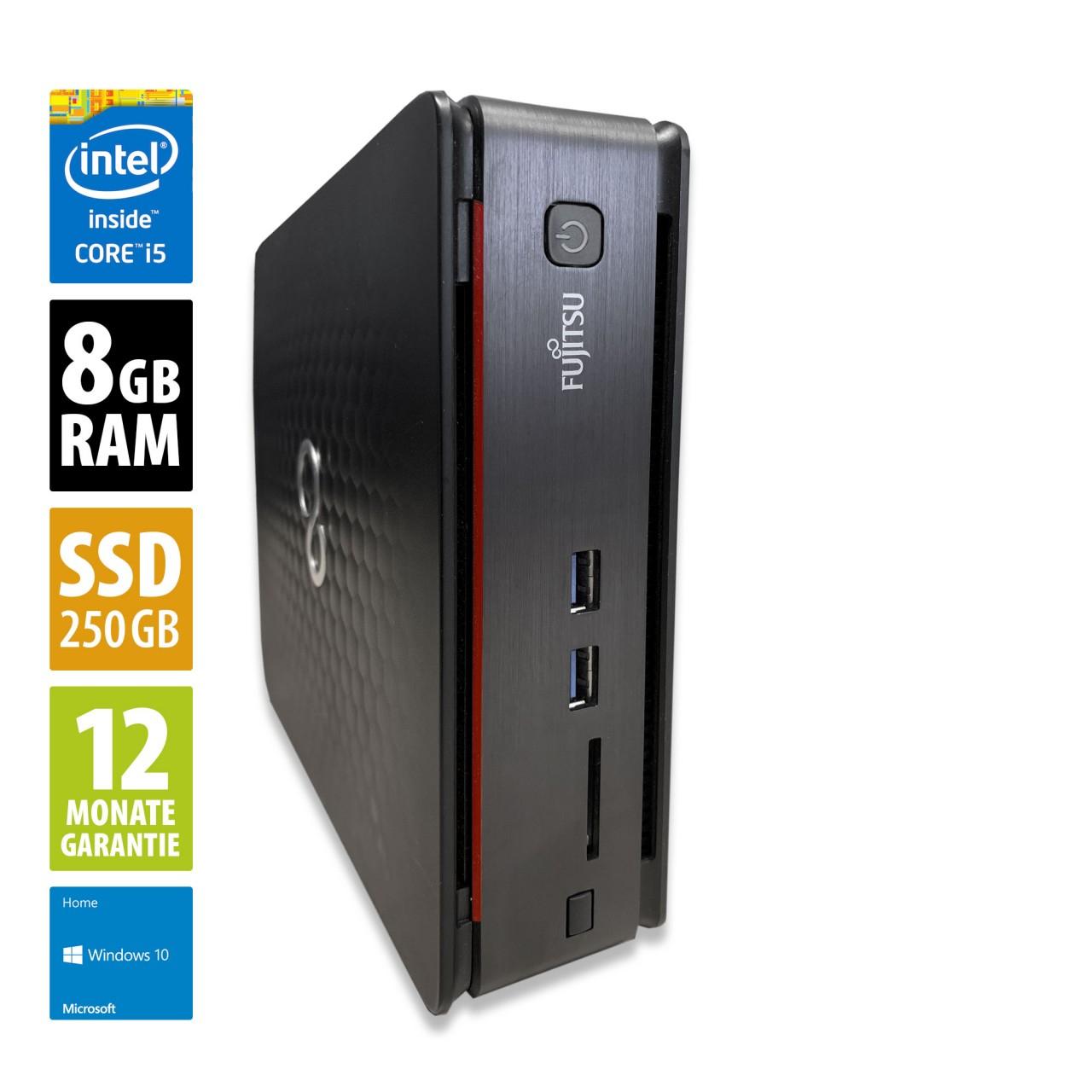 [Gebraucht] Fujitsu Esprimo Q920 Mini PC - Core i5-4590T @ 2,0 GHz - 8GB RAM - 250GB SSD - Win10Home [AfBShop]
