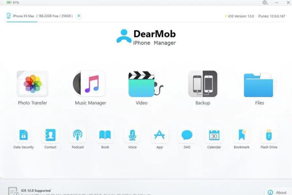 DearMob: Flexible Backups und Verwaltung von iOS Geräte - Kostenlos