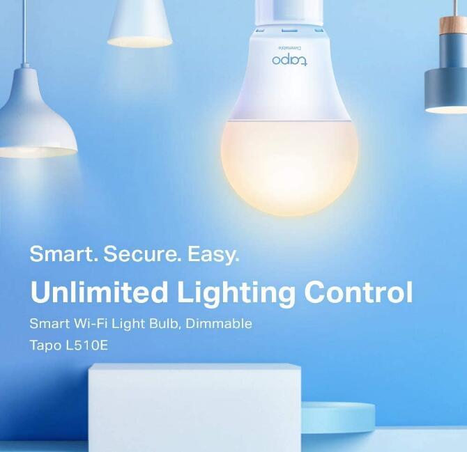 TP-Link Tapo L510E Smarte WLAN Glühbirne (Dimmbares Licht, Sprachsteuerung, Fernzugriff) für 8,90€ (Amazon Prime)