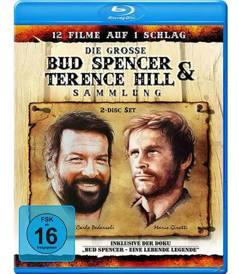 Die große Bud Spencer & Terence Hill Sammlung mit 11 Filmen (2x Blu-ray) für 7,79€ (Saturn)