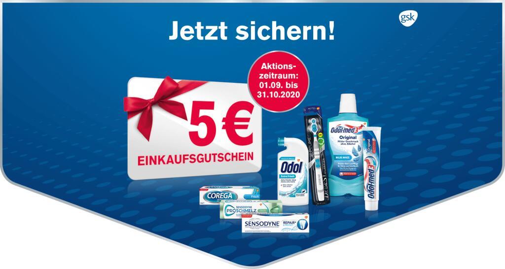 GSK Produkte mit mega Sparpotential schnappen (3 € Coupon/Geld-zurück/5 € Gutschein bei Rossmann)