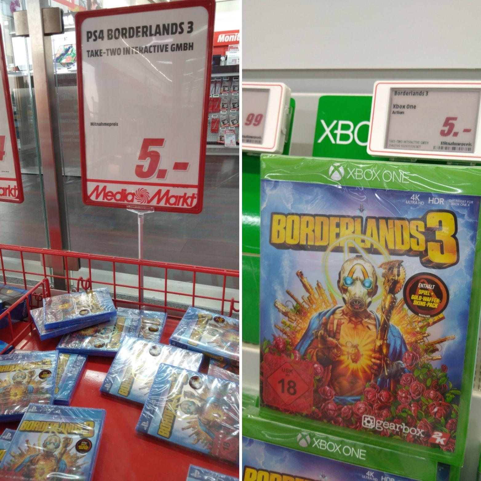 Lokal - Borderlands 3 PS4/Xbox One Media Markt Hannover Wülfel