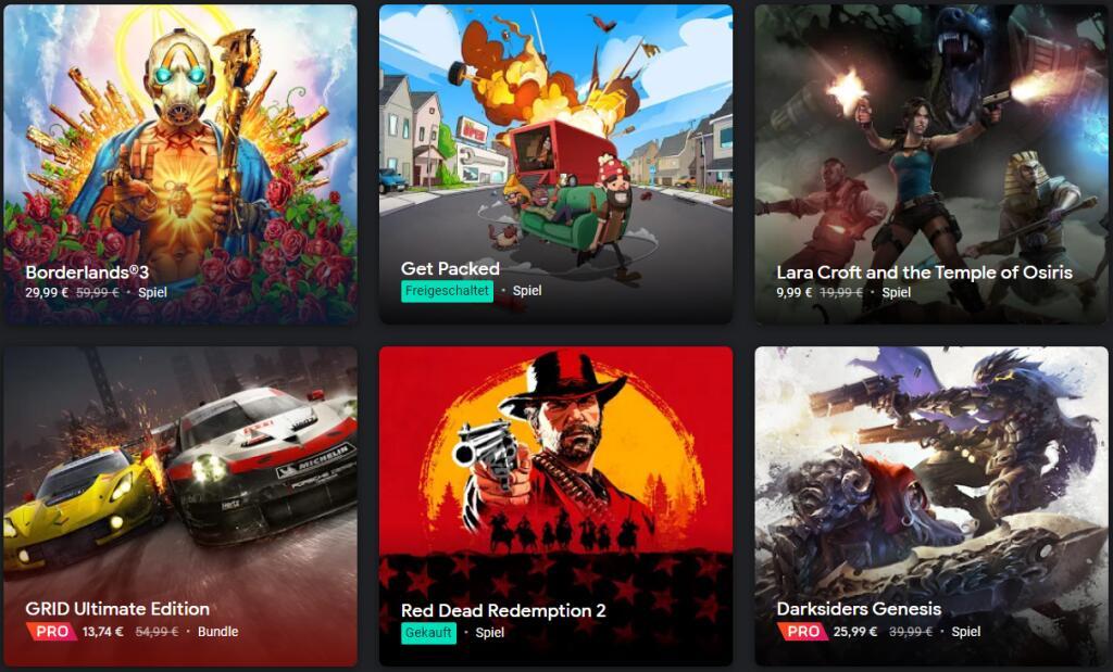 [Stadia] Wöchentlicher Sammeldeal u.a. mit Assassin's Creed Odyssey, Red Dead Redemption 2, The Elder Scrolls Online