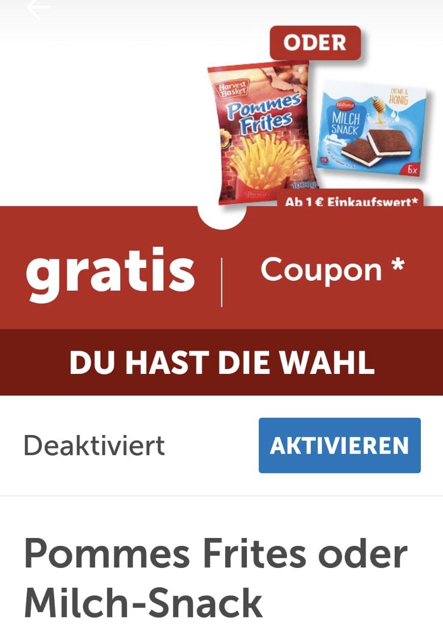 Rabattsammler LIDL PLUS App: gratis Nudeln ab 30€, Pommes oder Milchsnack der Hausmarken ab 75€ Umsatz