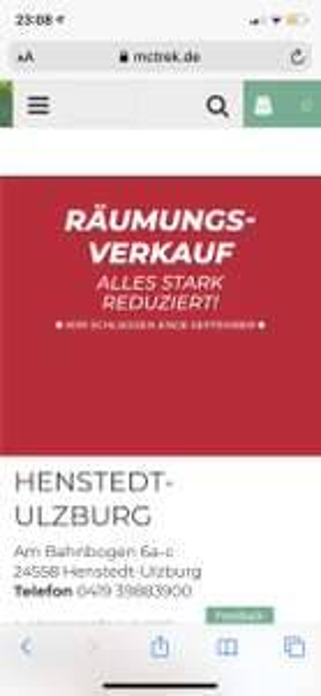[LOKAL Henstedt-Ulzburg] Mc Trek Räumungsverkauf 70% auf alles