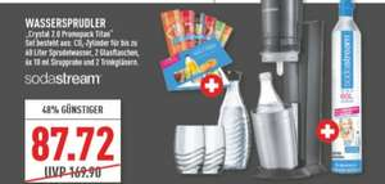 [Regional Marktkauf Rhein Ruhr /Südwest ab 21.09) SodaStream Crystal 2.0 titan Promopack für 87,72€