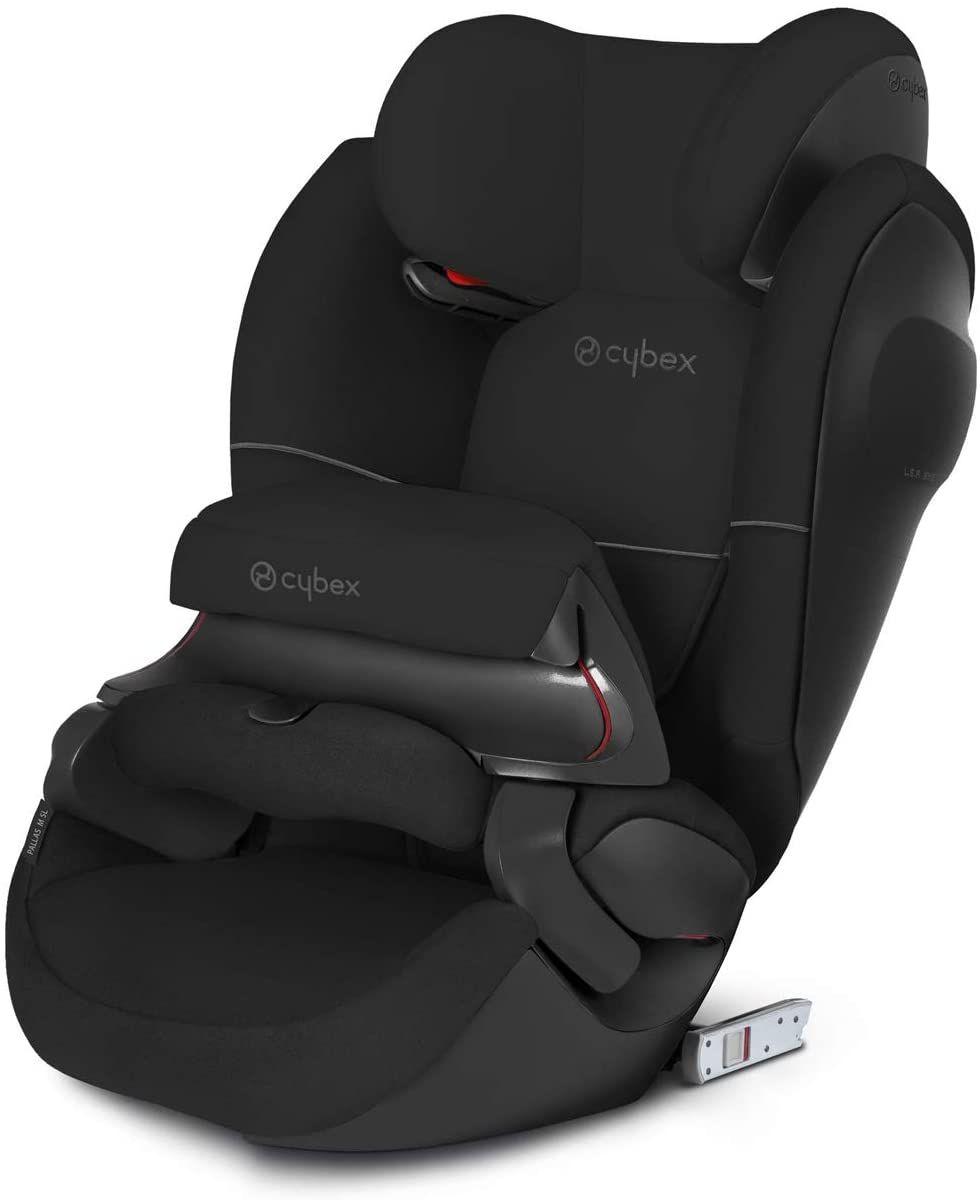 CYBEX Silver Pallas M-Fix SL 2-in-1 Kindersitz - Testsieger (für Autos mit & ohne ISOFIX, Gruppe 1-3 (9-36 kg) 9 Mon. - 12 Jahre) Pure Black