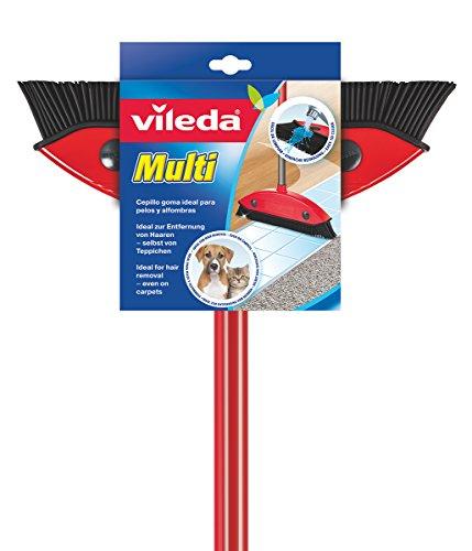 Vileda Multi Besen, mit Teleskopstiel, Kautschukborsten, gegen Tierhaare, verstellbar von 75–130 cm für 10,45€ (Amazon Prime)