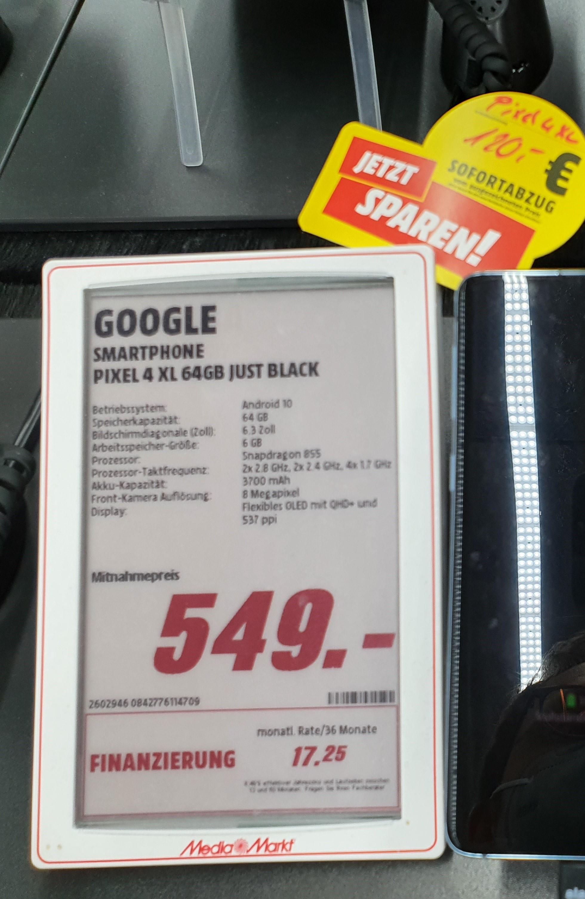 Lokal - [MediaMarkt Böblingen] Google Pixel 4 XL 64GB