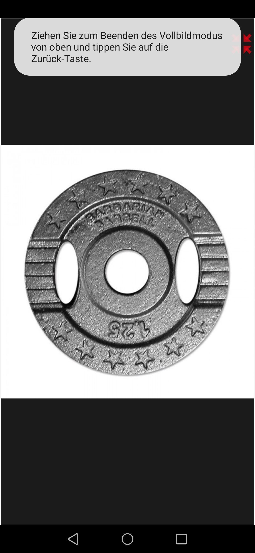 30 mm 1,25 KG Gusseisen - Gewicht für 1 Euro