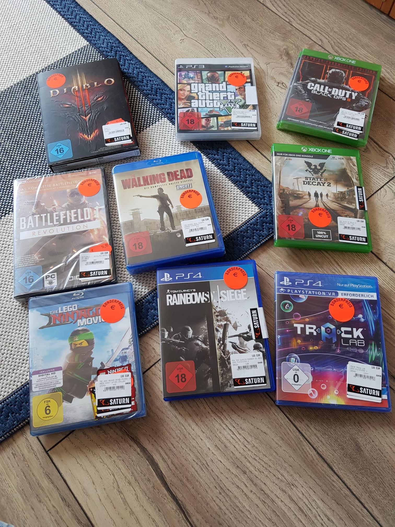 LOKAL Herford Saturn Spiele für 1€ Rainbow Six Call of Duty usw