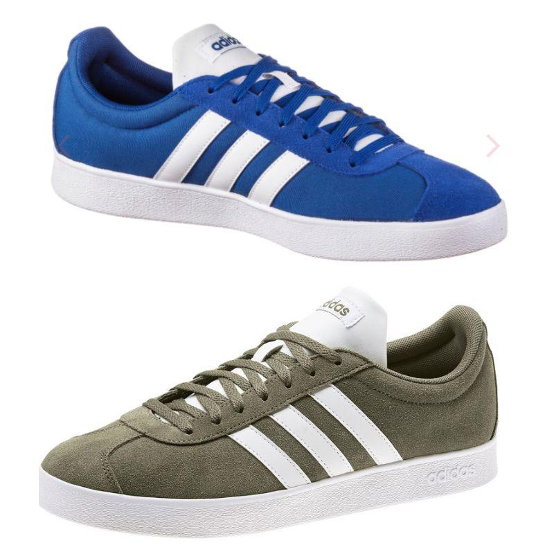 adidas VL Court 2.0 Sneakers für Herren in Royalblau oder Khaki (Gr. 42-49)