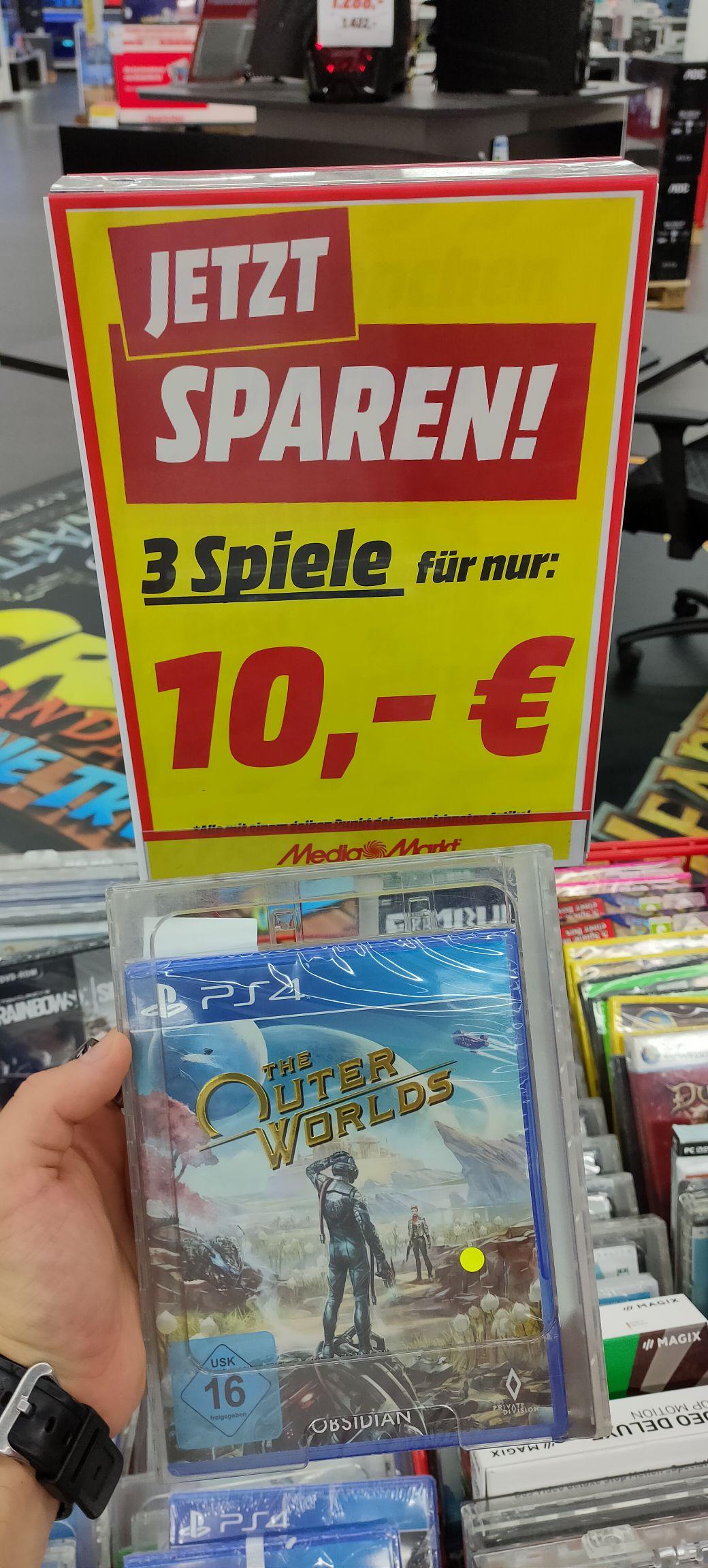 PS4/XBOX 3 Spiele für 10€ Mediamarkt Köln Chorweiler