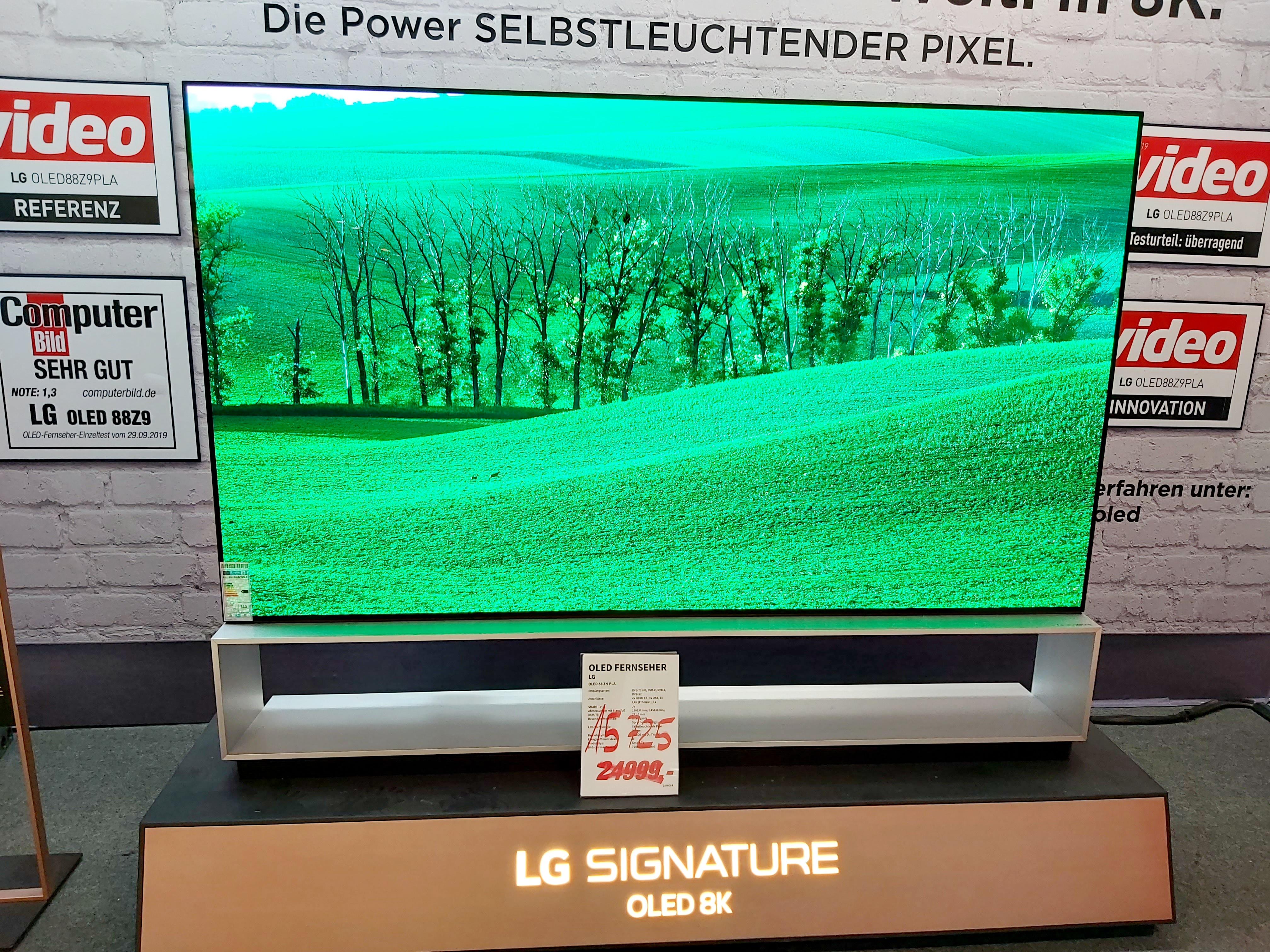 Media Markt Wiesbaden - LG OLED 88 Z 9 PLA Signature 8K 88 Zoll TV Fernseher