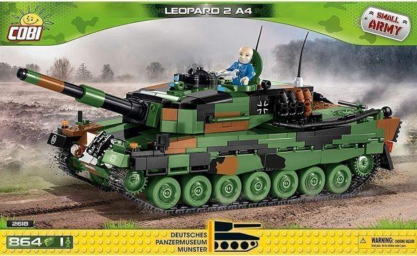COBI 2618 Leopard 2A4 Panzer Klemmbausteine Bausatz (1:35) 864 Teile [buecher.de]
