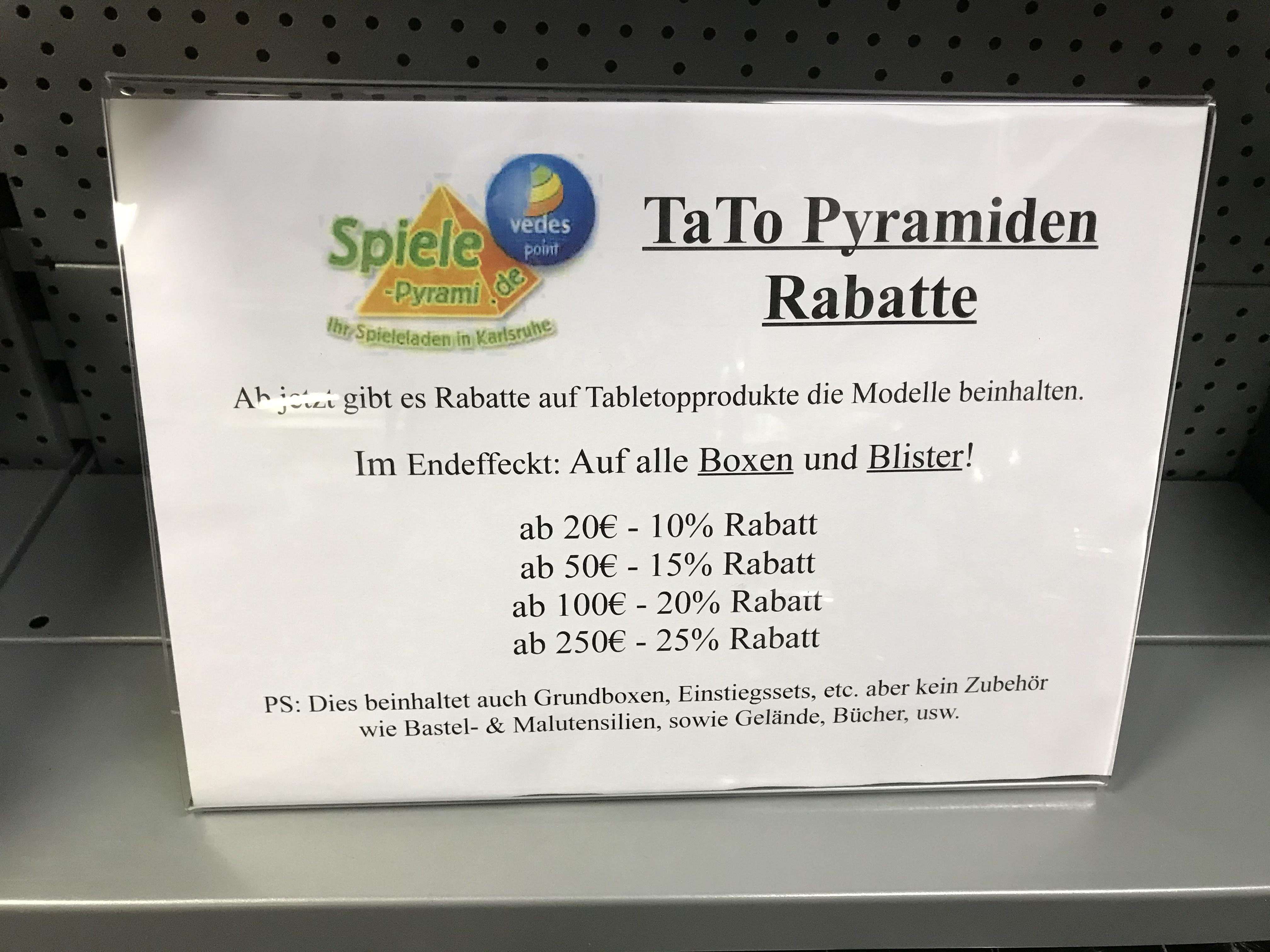 (Karlsruhe offline) bis zu 25% auf Tabletops in der Spielepyramide