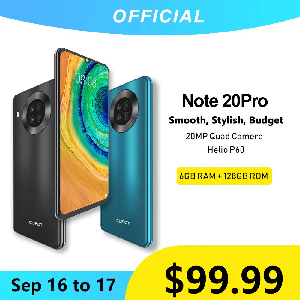 """Cubot Note 20 Pro 6GB+128GB, 6,5"""", 4200mAh, 1 Jahr Garantie, Quad-Kamera, NFC"""