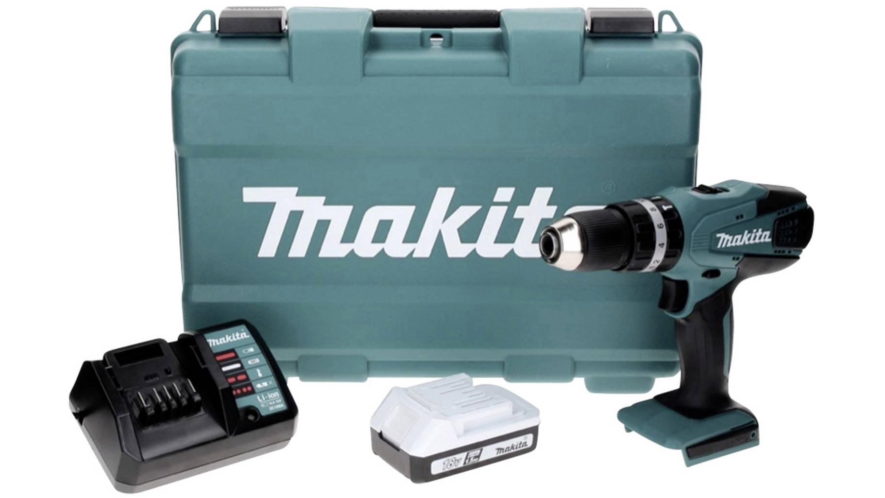 Makita HP457DW G-Serie, Koffer, 1 x 1,5 Ah Akku (mit SofortÜberweisung sonst + 5,95 €)