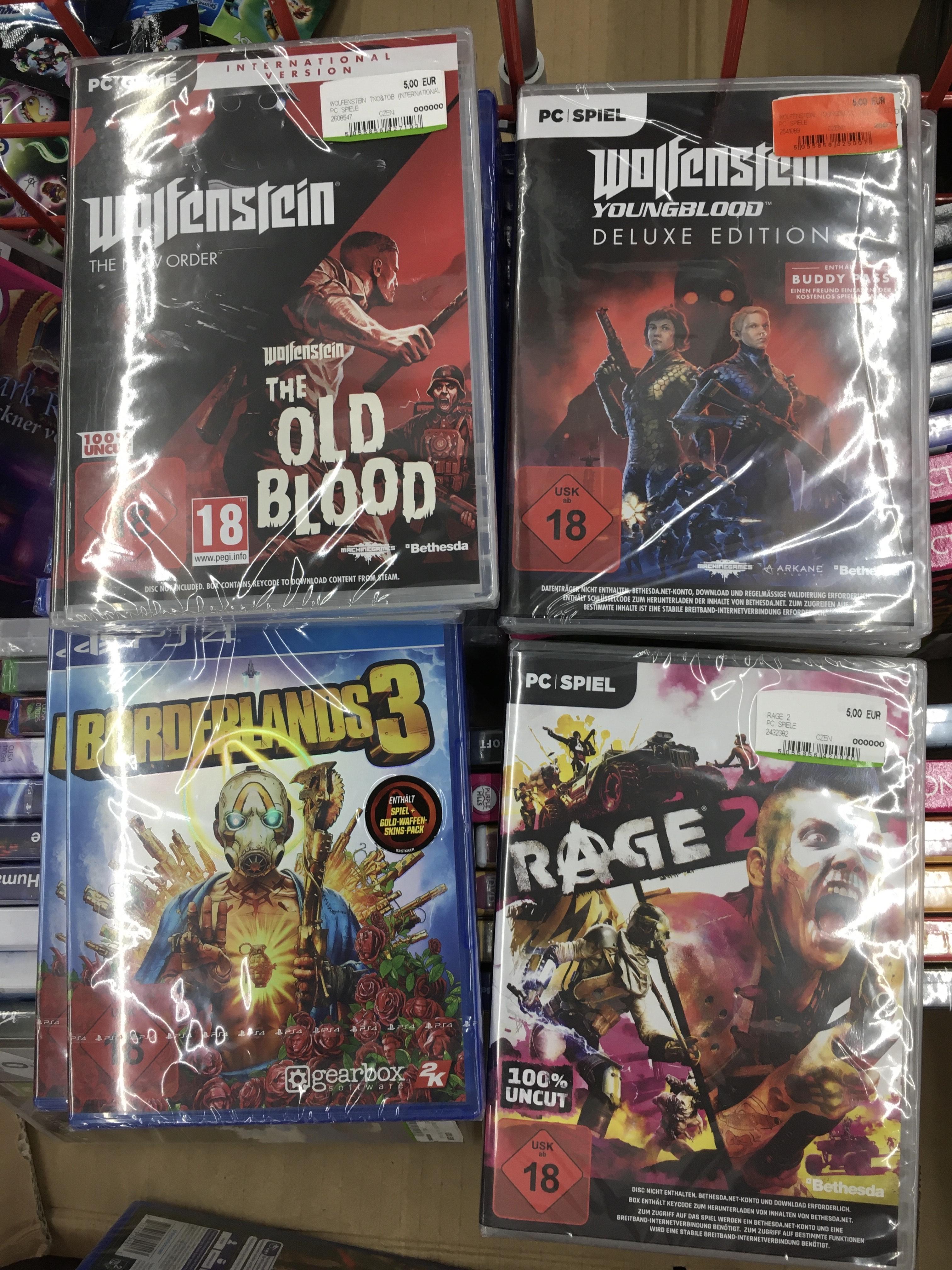 [LOKAL] Media Markt Berlin Spandau / [PC] Wolfenstein, Rage und [PS4] Borderlands für 5.00 €