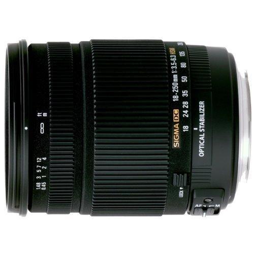 Sigma 18-250 mm F3,5-6,3 DC OS HSM Reise-Zoom-Objektiv (72 mm Filtergewinde) für Nikon Objektivbajonett Amazon WHD