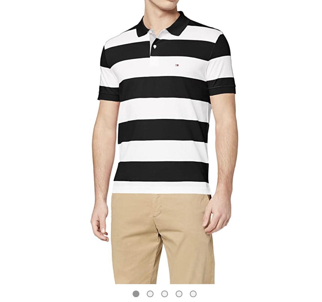 Tommy Hilfiger Herren Block Stripe Regular Polo Poloshirt