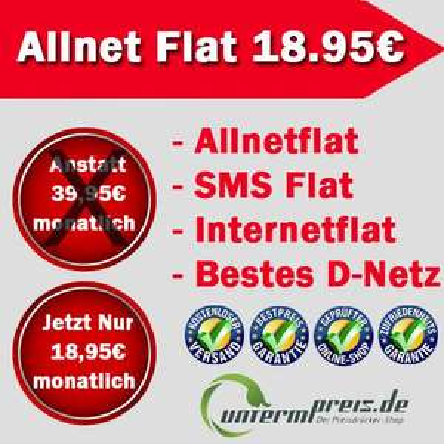Vodafone Allnet Flat, SMS Flat, Internet (500mb) flat