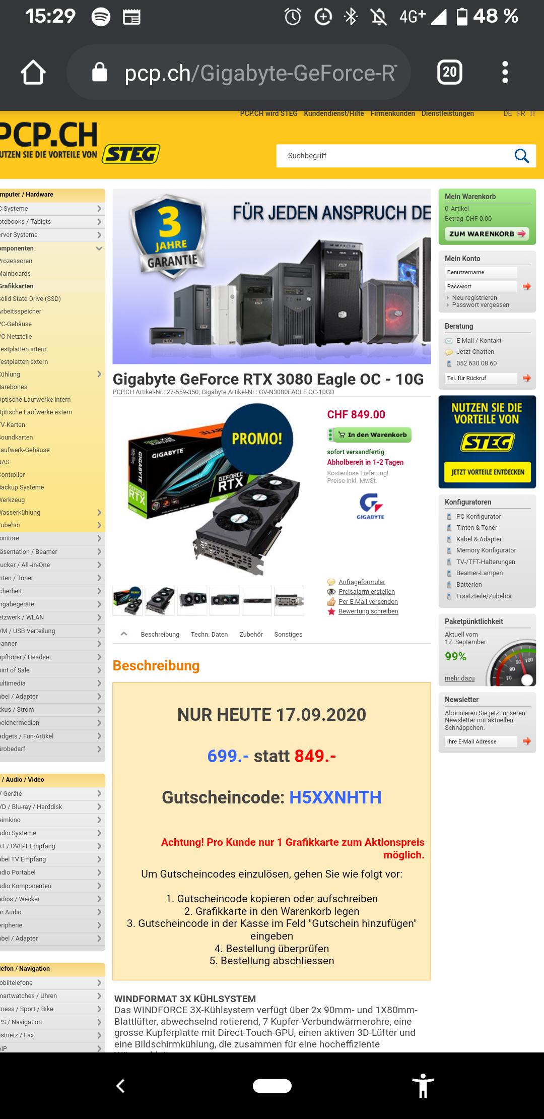 CHF 650€, Rtx 3080 Nvidia / Schaffhausen/ lokal? / Schweiz
