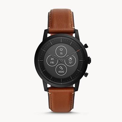 30% Rabatt auf alle Hybrid Smartwatches bei Fossil (außer bereits reduzierte): z.B. Hybrid Smartwatch Collider HR Leder Braun für 139,30€