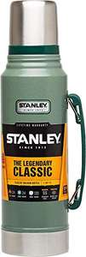 [Amazon Prime] Stanley Legendary Classic Vakuum-Thermoskanne 1L, Hammertone Green, 18/8 Edelstahl Trinkflasche, Vakuum-Isolierung
