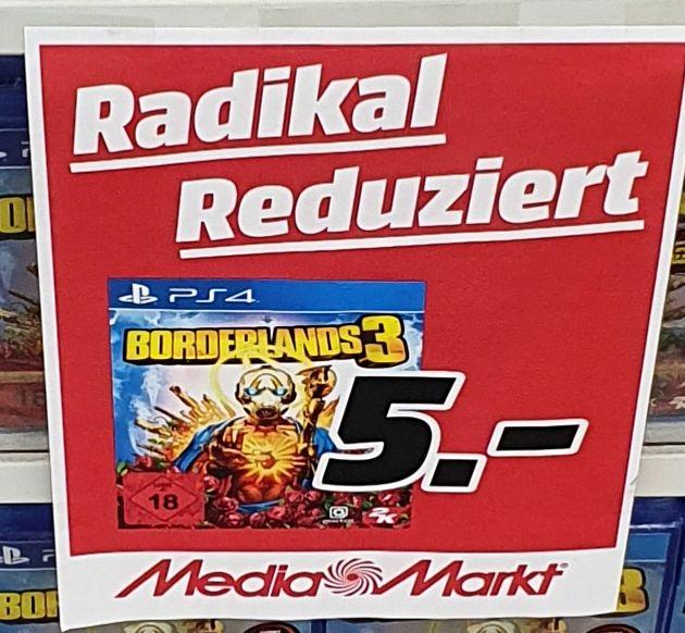 [Regional Mediamarkt Porta Westfalica] Borderlands 3 [PlayStation 4] für 5,-€