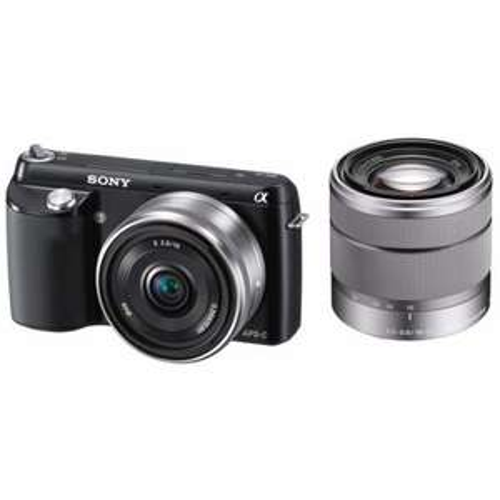 Sony NEX F3DB Systemkamera im Kit mit SEL 2,8/16 mm und 18-55 mm Zoom Objektiv