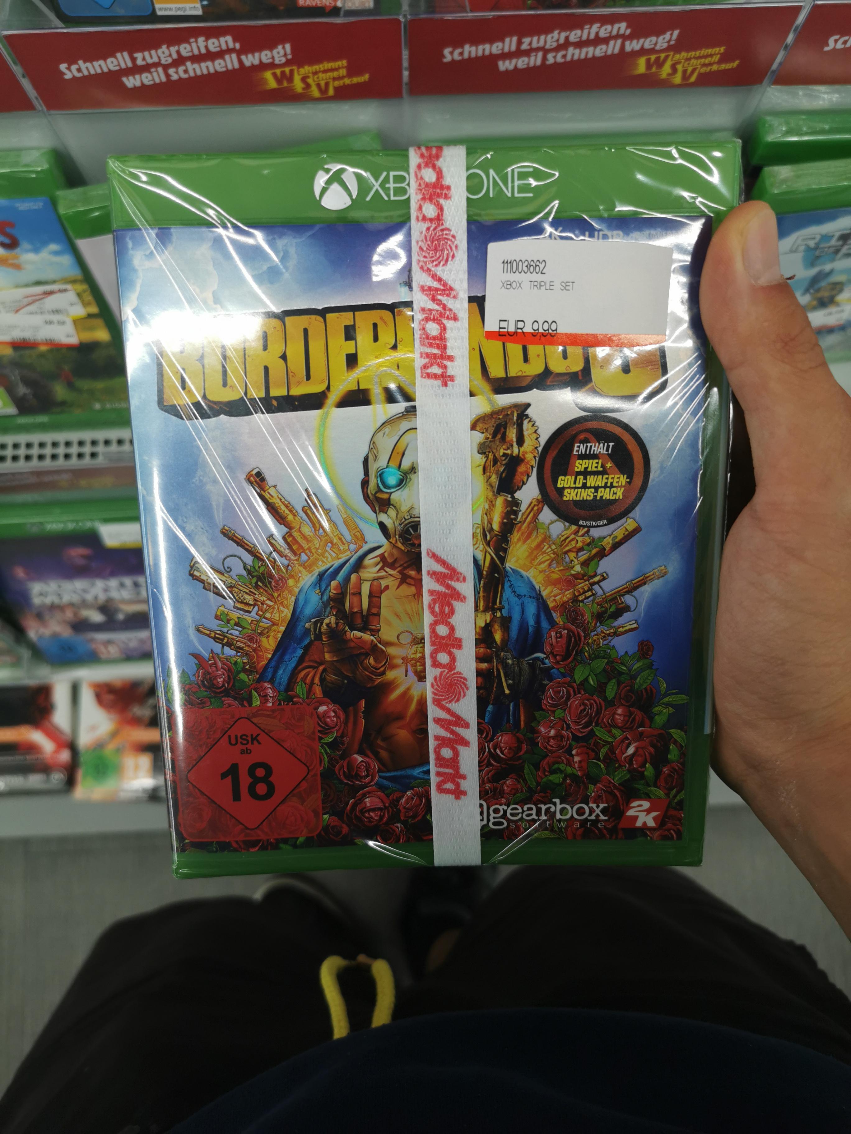 Xbox Spiele Bundle Borderlands 3 Playerunknown's Battlegrounds und Crackdown 3 zusammen für 9.99 | Lokal MediaMarkt Magdeburg Bördepark