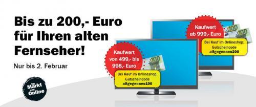 MediaMarkt AT - Eintauschaktion - 100 € / 200 € für alten Fernseher (auch ohne Altgerät)
