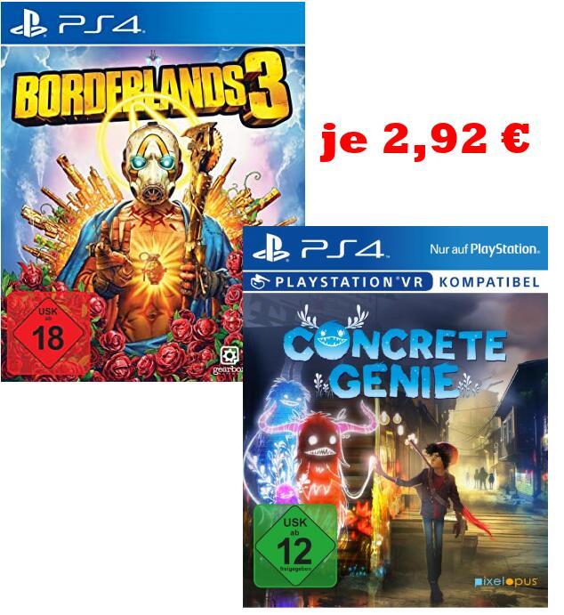 [Media Markt Peine] Borderlands 3/Concrete Genie PS4 für je 2,92€ | Daemon X Machina Switch für 20€