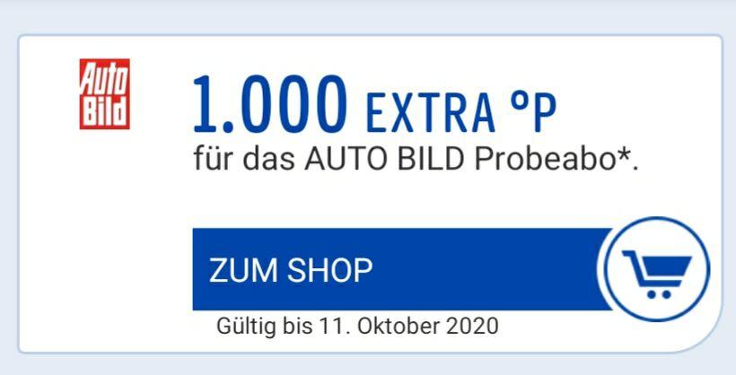 13 Wochen Autobild + 3000 Paybackpunkte [personalisiert] 9,40€ Gewinn möglich