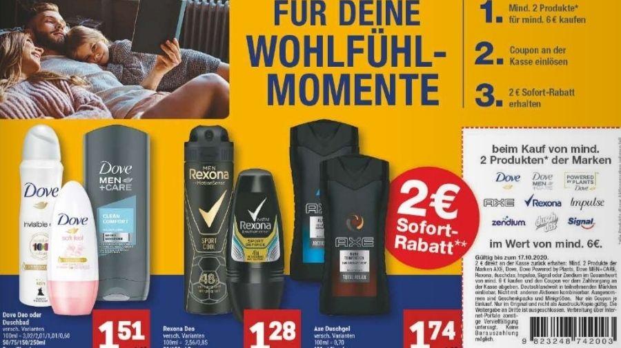 [Marktkauf Minden-Hannover] 4x Axe Duschgel für 4,96€|4x Dove Deo/Duschgel für 4,04€ (mit Prospektcoupon)