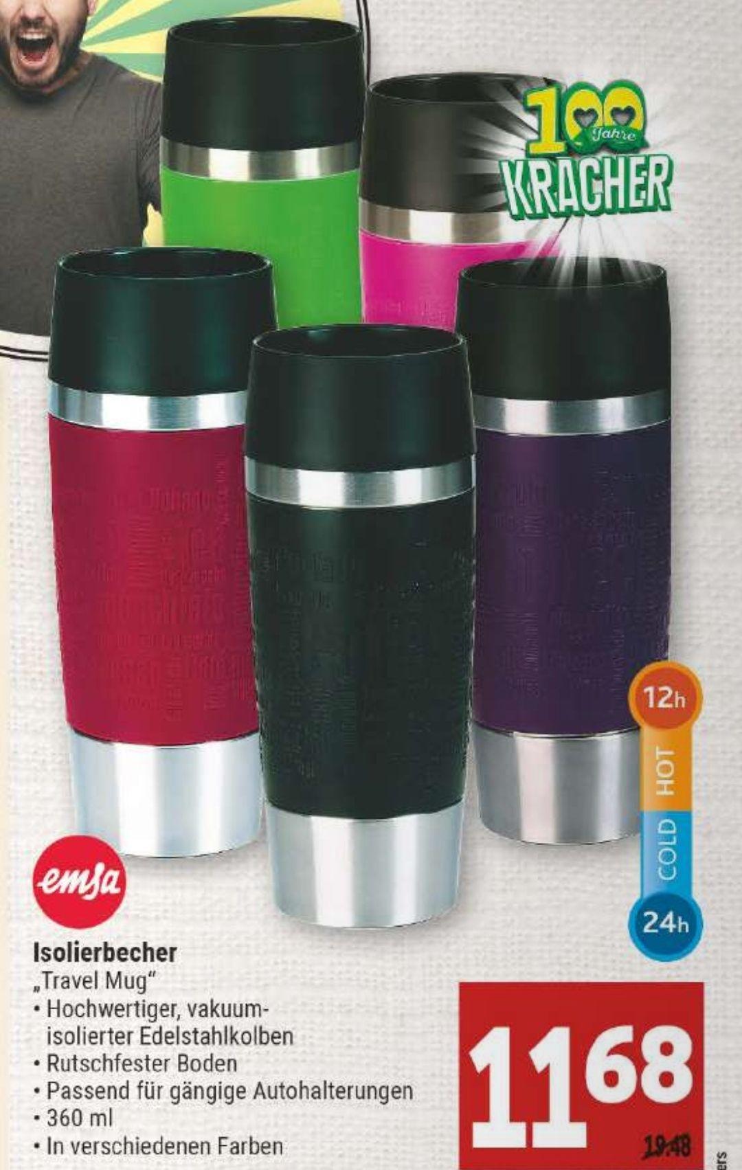 [Marktkauf Minden-Hannover] Emsa Travel Mug Isolierbecher 360ml versch. Farben mit 10% Coupon für 10,51€