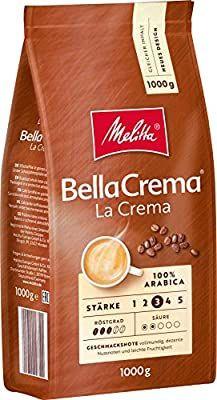 Melitta Kaffe, Ganze Kaffeebohnen, 100% Arabica, Stärke 3, BellaCrema LaCrema, 1kg - Prime*Sparabo*