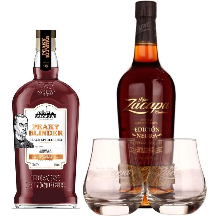 Rum-Übersicht #07: z.B. Peaky Blinder Black Spiced Rum für 18,99€, Ron Zacapa Edición Negra Rum inkl. 2 Gläser für 53,90€ inkl. Versand