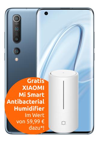 Xiaomi Mi 10 5G 128GB + Xiaomi Mi Humidifier im Vodafone Otelo Allnet Flat Classic für 19,99€ monatlich und 99€ einmalig