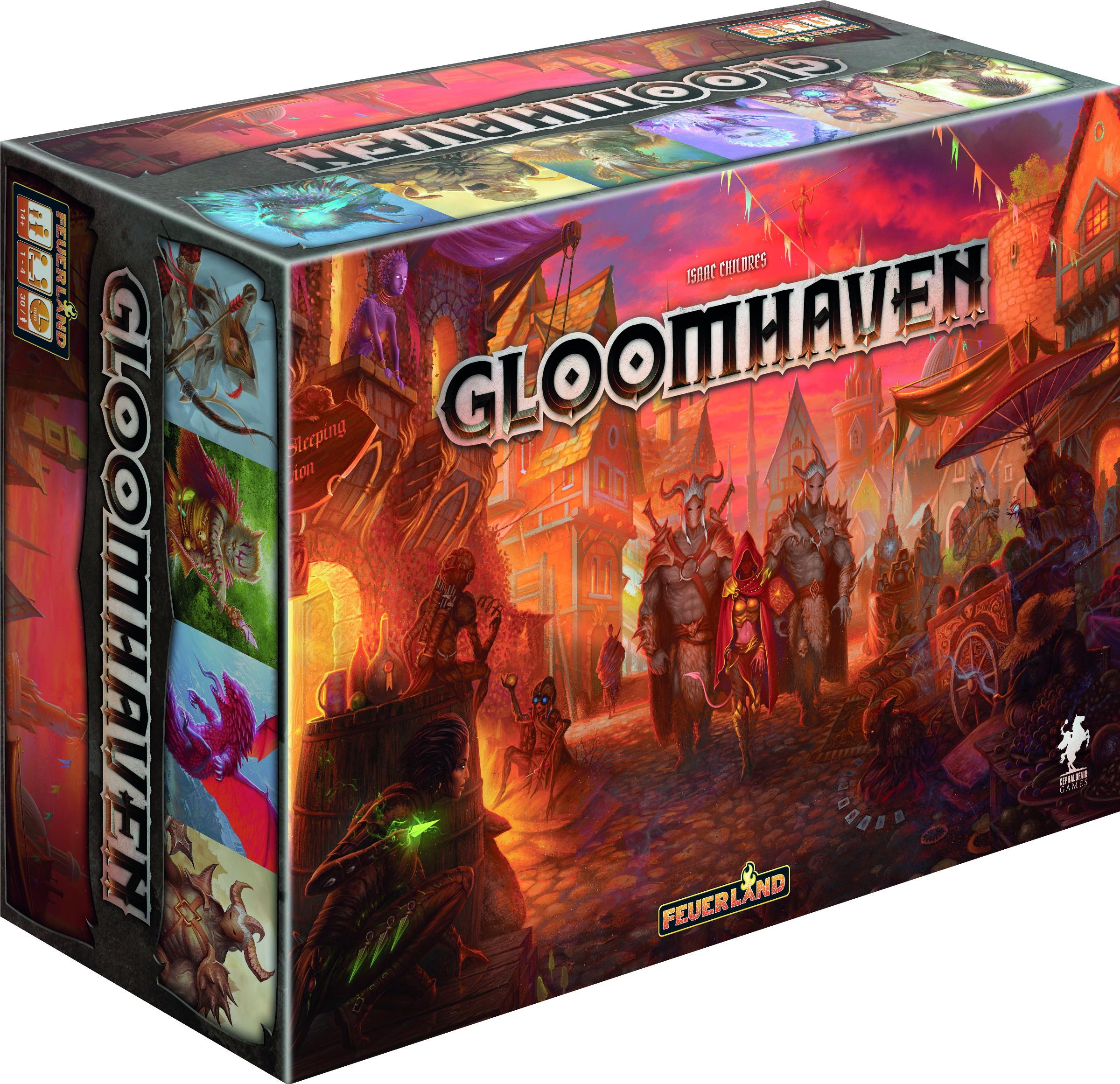 Brettspiel / Rollenspiel Gloomhaven + Erweiterung Die Pranken des Löwen (vorbestellung) - Boardgamegeek Platz 1