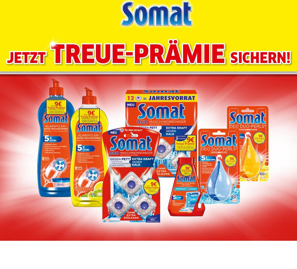 Somat Treueaktion (bis zu 9€ Erstattung) Treue-Prämie / mit 5€ Gutschein kombinierbar somit Freebie möglich