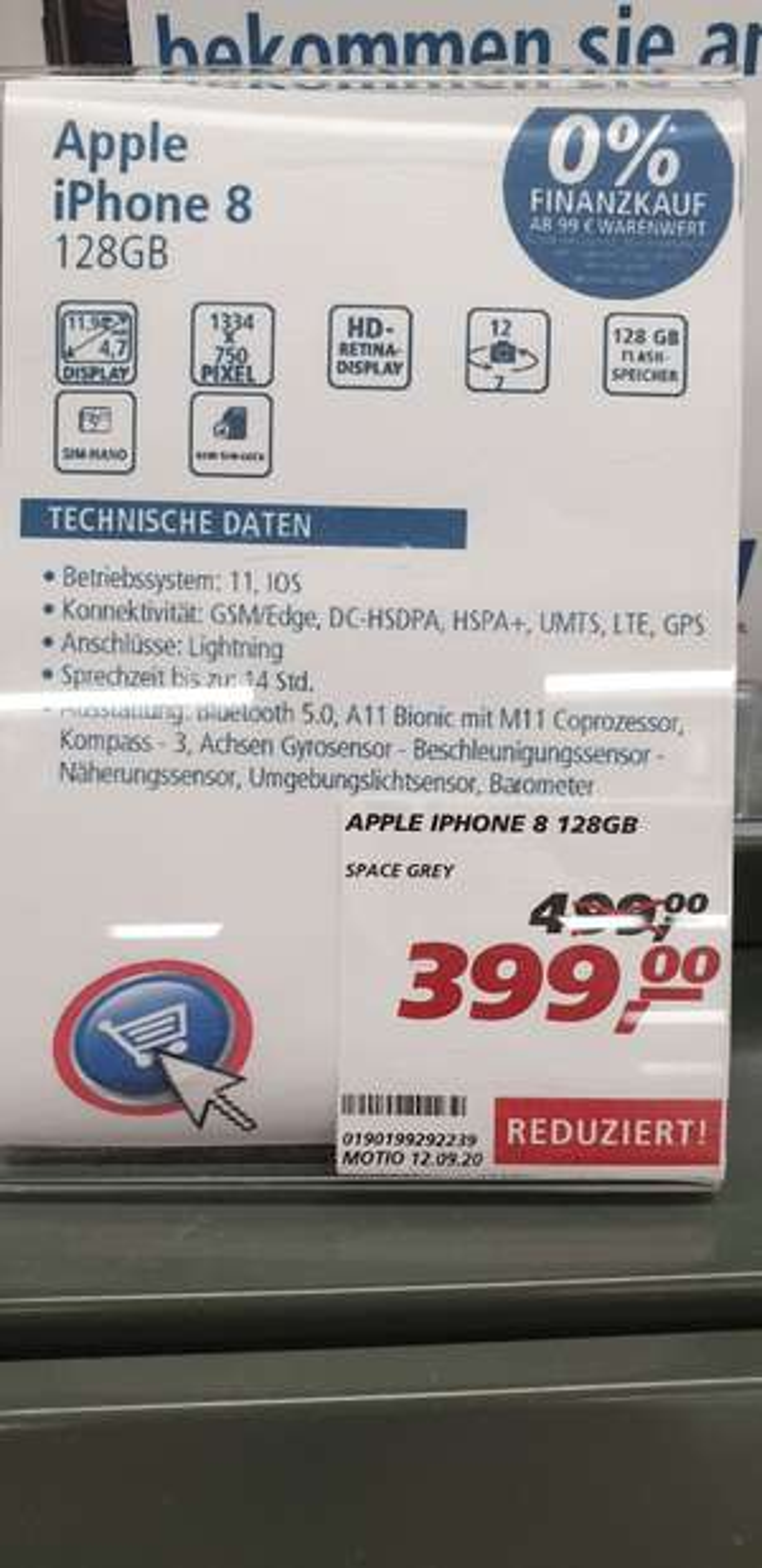 Lokal Real Helmstedt iPhone 8 128gb spacegrey