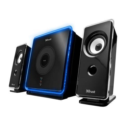 [Amazon Blitzangebot] Trust XpertTouch 2.1 beleuchtet Lautsprechersystem mit Subwoofer