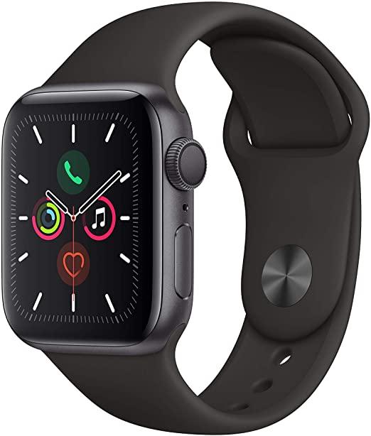 Apple Watch Series 5 WLAN, 44 mm, Aluminiumgehäuse space grau, Sportarmband schwarz - mit Newsletter Gutschein!