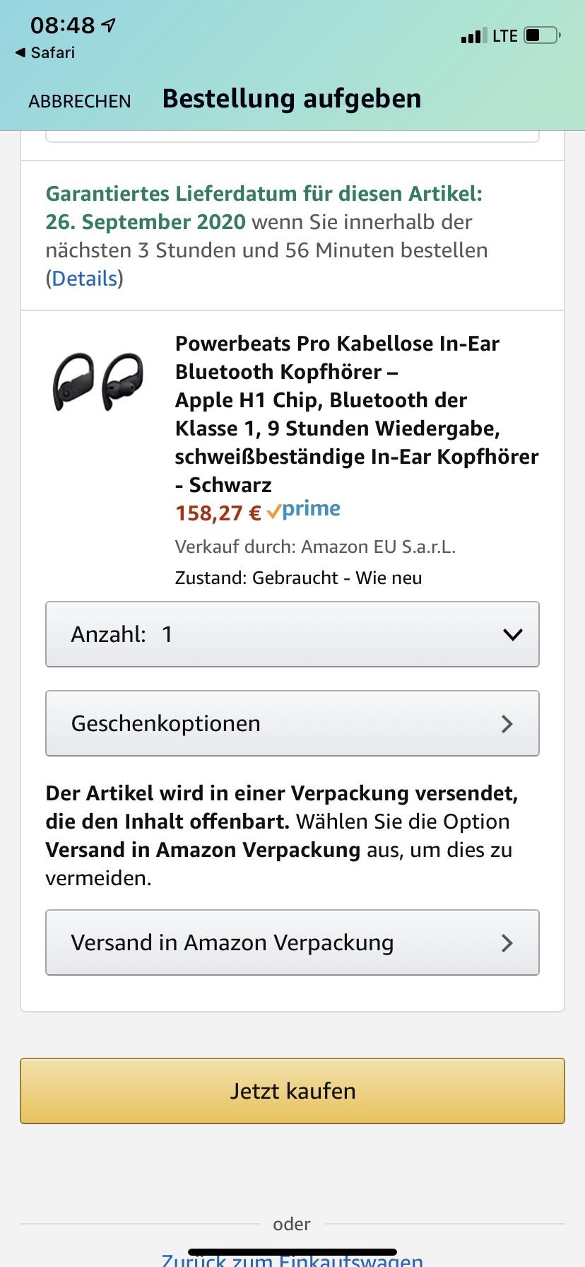 Powerbeats Pro Kopfhörer (Amazon Warehouse, wie Neu)