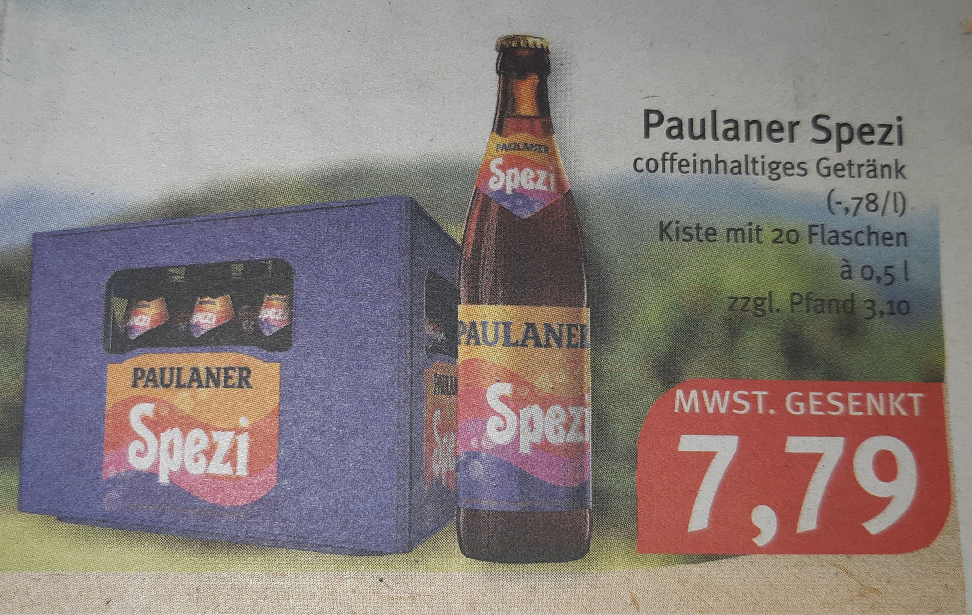 [Lokal Südbayern] Paulaner Spezi bei Feneberg für 7,79 (plus 3,10 Pfand)