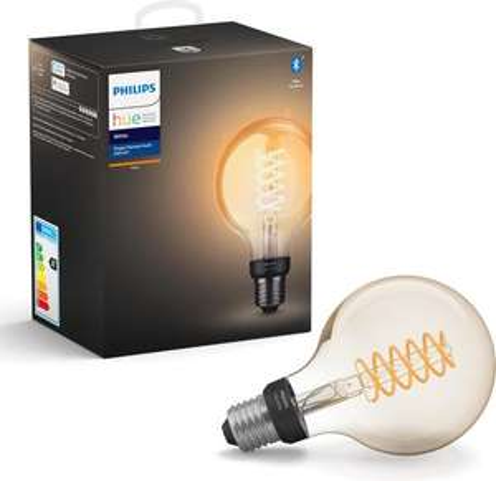 2 + 1 gratis Aktion bei bol.com: 3 x Philips Hue White LED E27 Edison Globe für 59,89 sowie weitere Hue Filament Lampen