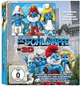 Die Schlümpfe 3D BluRay Limited Edition inkl. 2D, 3 Figuren und einen Kurzfilm für nur 12,99 Euro @Saturn.de