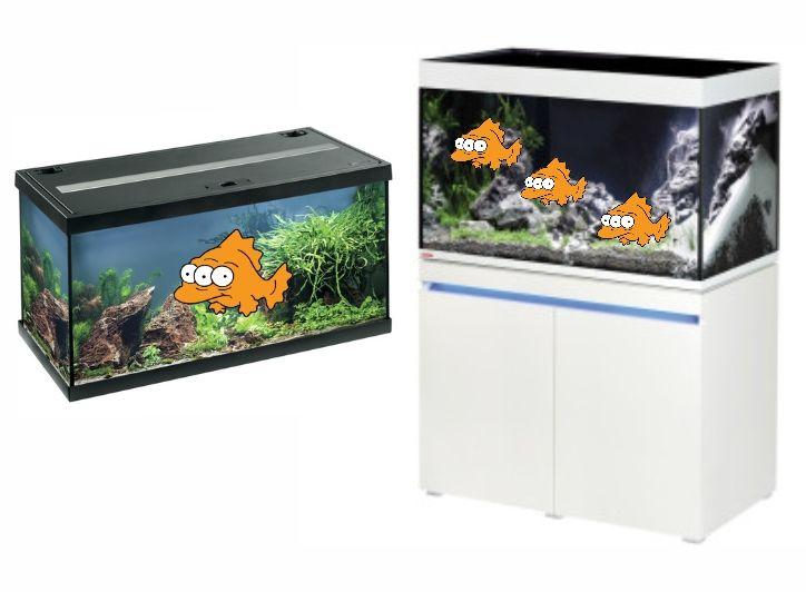 EHEIM aquastar 54 mit LED 59,99€, Aquariumkombination incpiria 330 mit LED-Beleuchtung 1199,99€, Kölle Zoo